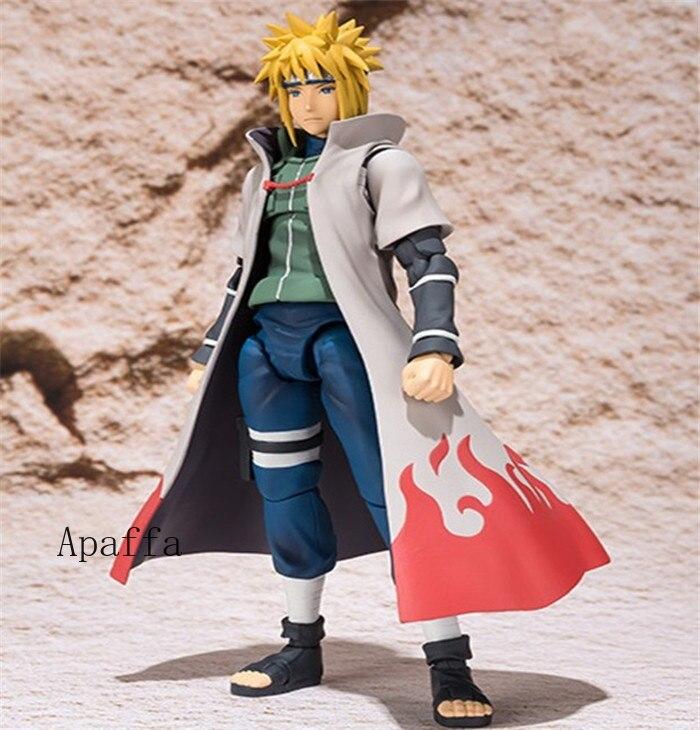 14cm Anime Figure Toys Naruto Shippuden Namikaze Minato Four Generations PVC Action Figure Toys Collection Model Doll Gift